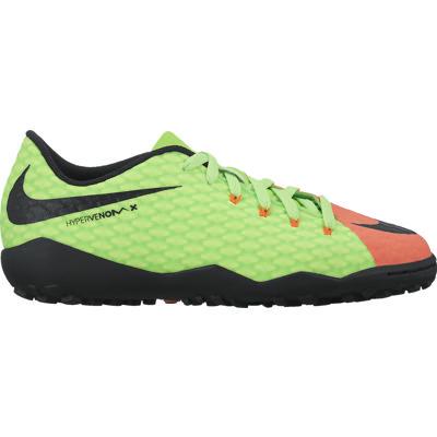 e3ac5cc0 JR HYPERVENOMX PHINISH II TF 308/ELCTRC GREEN/BLK-HYPR ORNG-VLT. Nike ...