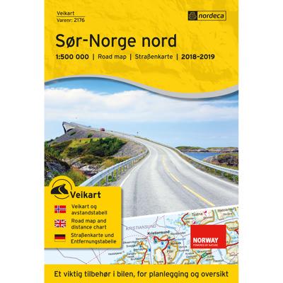 Veikart Sør-Norge Nord 1:500 000