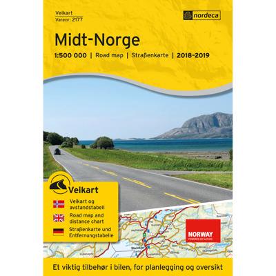 Veikart Midt-Norge 1:500 000