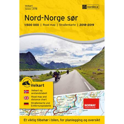 Veikart Nord-Norge Sør 1:500 000