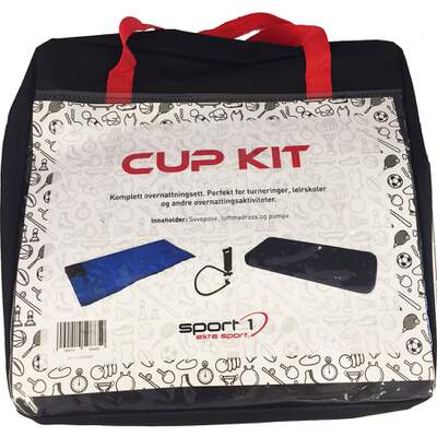Sport 1 Cup Kit - teppepose, luftmadrass, pumpe