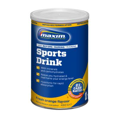 Maxim Sports Drink 480g Orange 1 pk a 6 stk