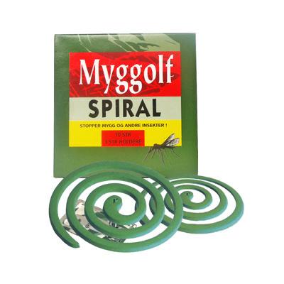 Myggolf myggspiral 10-pk