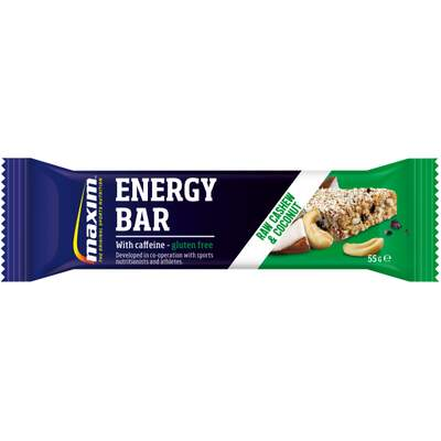 Maxim Energy Bar 55g Cashew & Coconut w/caffeine