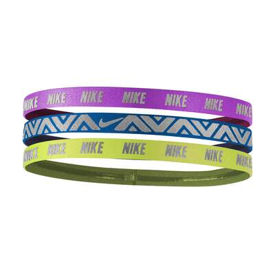 GIRL'S NIKE METALLIC HAIRBANDS 3 PACK (8-14år)
