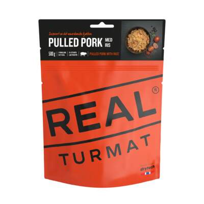 REAL TURMAT Pulled pork med ris 500 gr