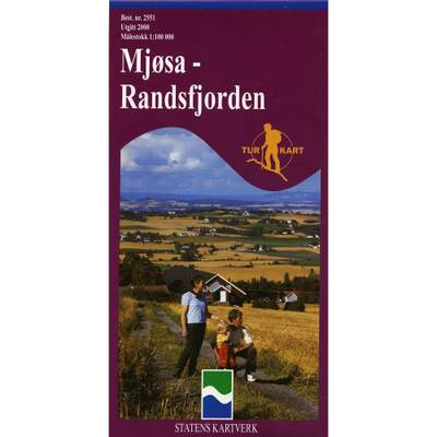 Mjøsa-Randsfjorden 1:100 000