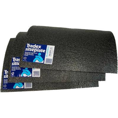 TRADEX sitteplate grå/svart