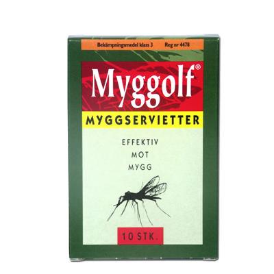 Myggolf myggserviett 10-pk